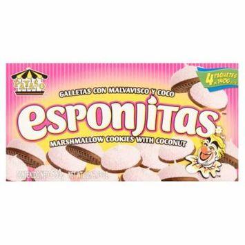 (3 Pack) Payaso Esponjitas Marshmallow Cookies with Coconut 1 lb.