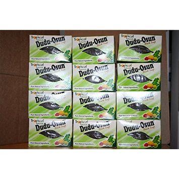 12 x ORIGINAL Dudu Osun African Black Soap Bars Herbal Natural Nigeria