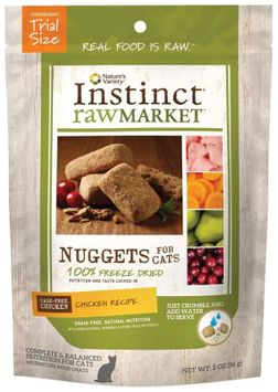 Natures Variety Instinct Raw Market Meal Bars Chicken Formula Freeze Dried Food for Cats, 2oz.