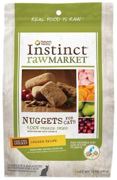 Natures Variety Instinct Raw Market Meal Bars Chicken Formula Freeze Dried Food for Cats, 12oz.