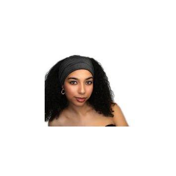 Turban Diva Designs 299-18a Wide Headband-Charcoal Gray