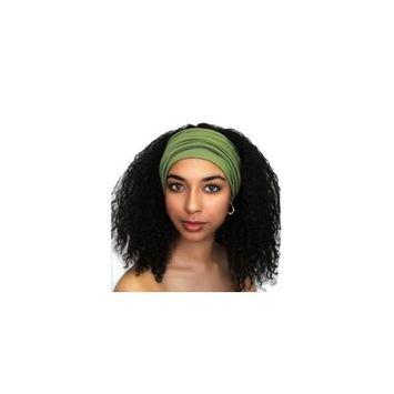 Turban Diva Designs 299-31a Wide Headband-Olive Green