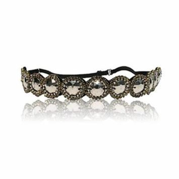 Biker Chrome Headband Hair Goes Up in Under 5 Seconds. Adjustable Band Fit's Any Head. Comes with Hair Style Guide