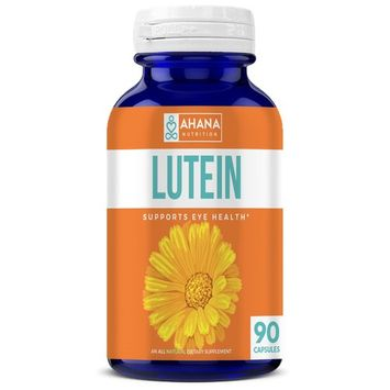 Ahana Nutrition Pure Lutein 40mg Capsules - Eye Vitamins That Provide Vision Support and Eye Health (90 Capsules)
