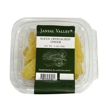 Jansal Valley Sliced Crystallized Ginger, 6 oz