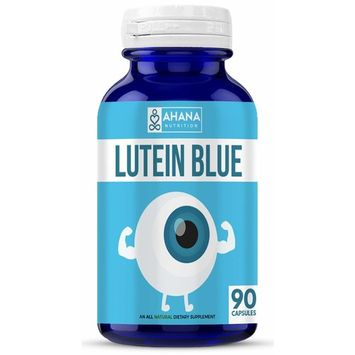 Ahana Nutrition Lutein 40 mg Capsules - Lutein Blue Supplement for Eyes and Visual Function (90 Capsules)