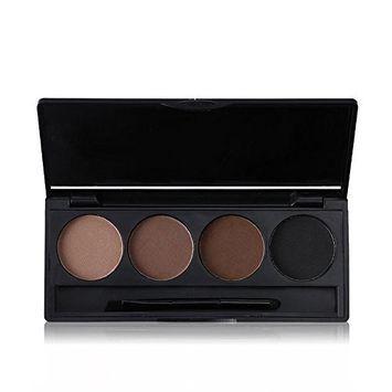 Tanali 4 Color Professional Eyebrow Powder Brow Powder Makeup Tint Palette Kit with Brush