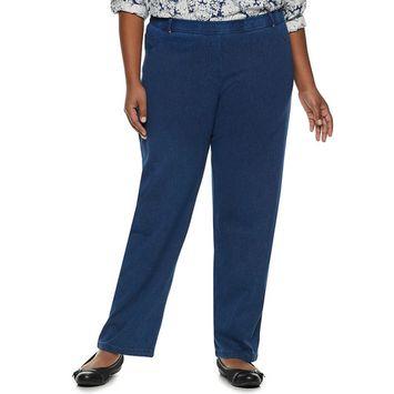 Plus Size Cathy Daniels Pull-On Straight Leg Pants