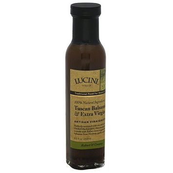 Lucini Tuscan Balsamic & Extra Virgin Artisan Vinaigrette, 8.5 fl oz, (Pack of 6)