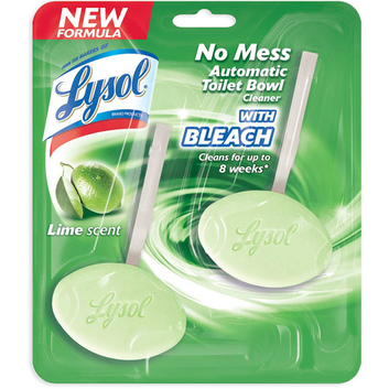 Lysol Lime Scent No Mess Automatic Toilet Bowl Cleaner with Bleach