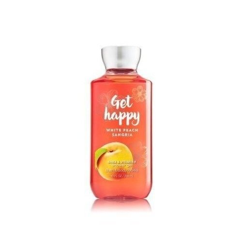 Bath and Body Works Get Happy White Peach Sangria Shower Gel 10 Ounce Body Wash Retired Scent