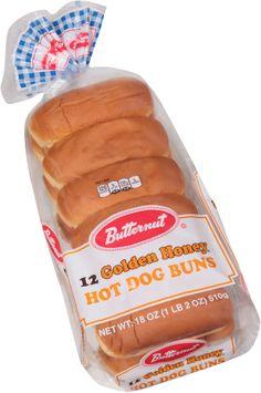 Butternut® Golden Honey® Hot Dog Buns 12 ct Bag