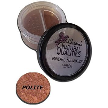 Christina's Natural Qualities Mineral Powder Dark Foundation With Botanicals For Women of Color - Polite