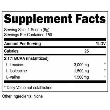 Nutricost BCAA Powder 2:1:1-150 Servings (Unflavored)