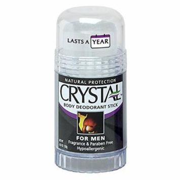 Crystal Mineral Deodorant Stick for Men, Unscented, 4.25 oz