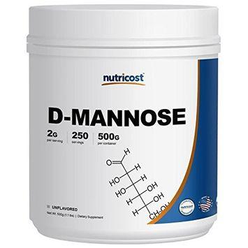 Nutricost D-Mannose Powder 500 GMS, 2g Serving, Non-GMO, Gluten Free