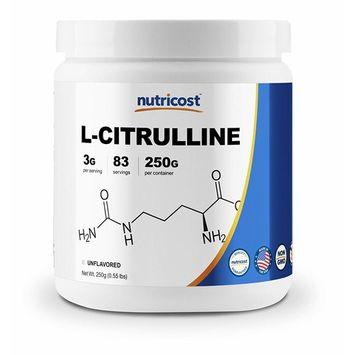 Nutricost Pure L-Citrulline (Base) Powder 250 Grams