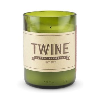 Twine Grapevine Upcycled Wine Bottle Unscented Designer Candle