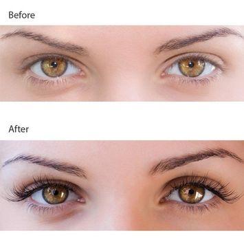 Double Magnetic False Eyelashes - no Glue Mess-Free Reusable - Best Fake Lashes Extensions - Beautiful Natural Enhanced Eyes, Volumized Lashes (2 Pair, 4 Pcs)