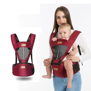 Ergonomic Baby Carrier with Hip Seat for All Seasons, Comfortable & Safe Positions for Infant & Toddlers