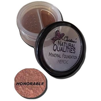 Christina's Natural Qualities Mineral Powder Foundation With Botanicals For Women of Color - Heroic