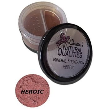 All Natural Mineral Powder Foundation With Botanicals For Women of Color Dark Skin Tones- Heroic