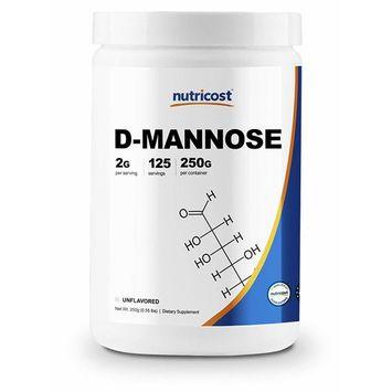 Nutricost D-Mannose Powder 250 GMS, 2g Serving, Non-GMO, Gluten Free