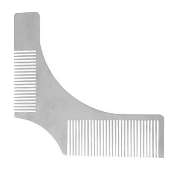 SODIAL Stainless Steel Beard Styling Shaping Template Comb Facial Hair Tool