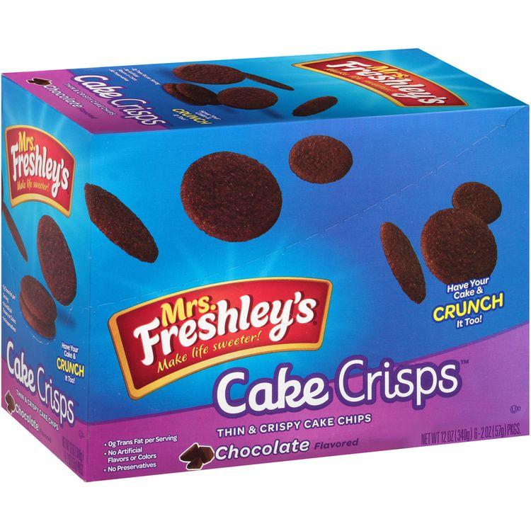 mrs Freshley's® Cake Crisps™ Chocolate Thin & Crispy Cake Chips