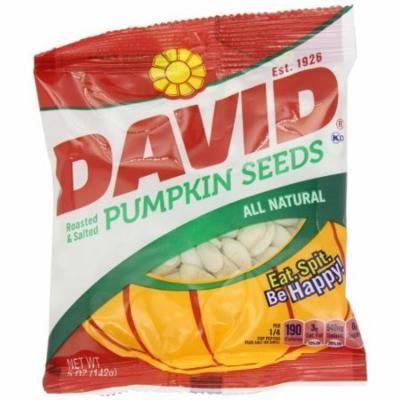 David Seeds Pumpkin Seeds, 5-Ounce Bags (Pack of 12)