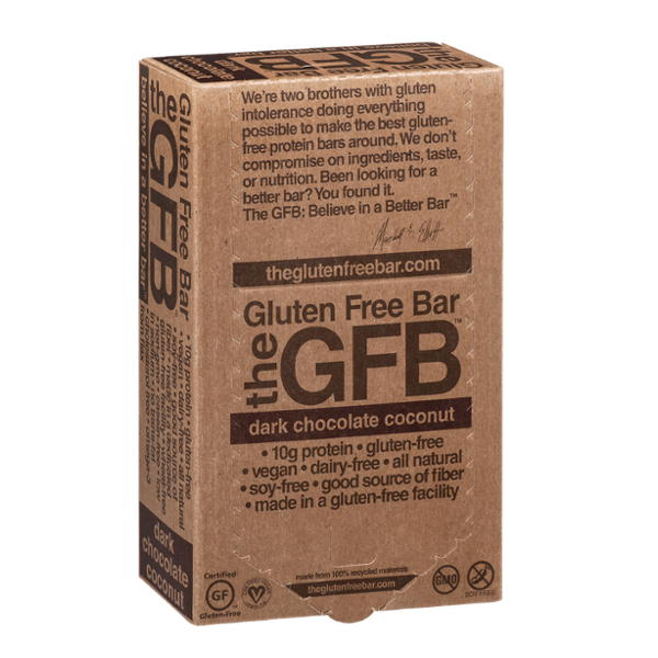 GFB The Gluten Free Bar Dark Chocolate Coconut - 12 CT