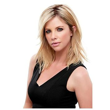 Top Notch Mid Length Clip In Hair Topper Crown Jon Renau Womens Double Monofilament Top Addition Easihair Color FS2V/31V