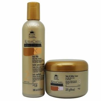 Keracare Hair Milk Daily Hair Sustainer 8 Fl. Oz. + Twist & Define Cream 8 Oz.
