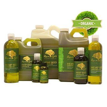64 Fl.oz Premium Liquid Gold Hemp Seed Oil Unrefined Pure & Organic Skin Hair Nails Health