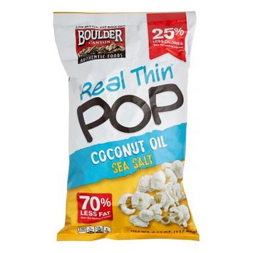 Boulder Canyon Gluten Free Real Thin Popcorn Coconut Oil Sea Salt 4.15 oz - Vegan