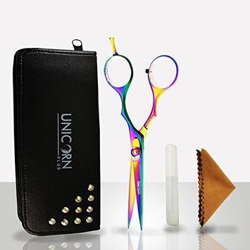 Razor Edge Multi Titanium Stainless Steel Barber Hair Cutting Shears Beard & Mustache Scissors Professional Styling Salon Hairdressing Scissors 5.5