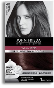 John Frieda Precision Foam Colour 4R Radiant Red® Dark Red Brown