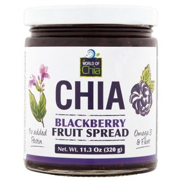 Space Enterprises Llc World Of Chia, Spread Chia Blackberry, 11.3 Oz (Pack Of 6)