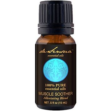 Muscle Soother Oil- Alleviating Blend, 100% Pure Essential Oils - Birch, Eucalyptus, Peppermint, Camphor (15 mL)
