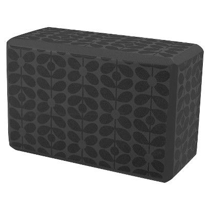 Orla Kiely by Gaiam Linear Stem Graphite Yoga Block- Grey
