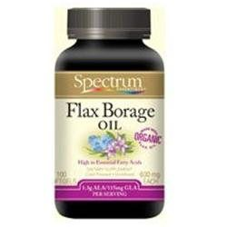 Spectrum Naturals Spectrum Essentials Organic Flax Borage Oil, 600mg, Softgels