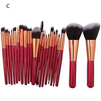 Makeup Brush Set, Lotus.flower 22PCS Professional Makeup Tool Essential Cosmetics Suit - Face Eye Shadow Eyeliner Foundation Blush Lip Powder Liquid Cream Blending Brushes Kit