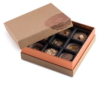 The Nuttery Ny Nuttery- Signature Chocolate Gift Box of Assortment Milk Chocolates, 9 pieces