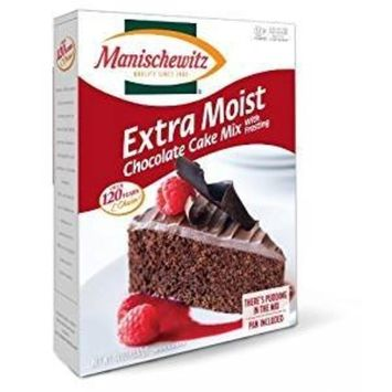 Manischewitz Extra Moist Chocolate Cake Mix With Frosting Kosher For Passover 14 oz. Pack of 3