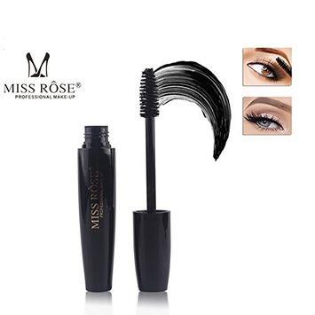 Miss Rose 4D Silk Fiber Eyelash Mascara Extension Makeup Thick Lengthening Slick Thick Mascara Black Waterproof Kit Eye Lashes (4D Miss Rose)