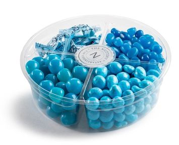 The Nuttery Ny The Nuttery Signature Plastic 4 Section -Baby Gift Tray (Baby Boy Gift Tray)