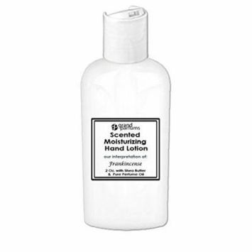 Grand Parfums 2 Oz Moisturizing Hand Lotion with Shea Butter (Frankincense) Scented Hand Cream Spa Product, Travel Size Paraben Free