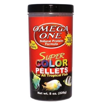 Omega One Super Color Pellets - Sinking 8oz.