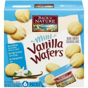 Back to Nature Mini Vanilla Wafers, 6.72-Ounce Boxes (Pack of 6)