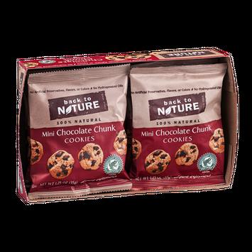 Back To Nature Cookies Mini Chocolate Chunk - 6 CT